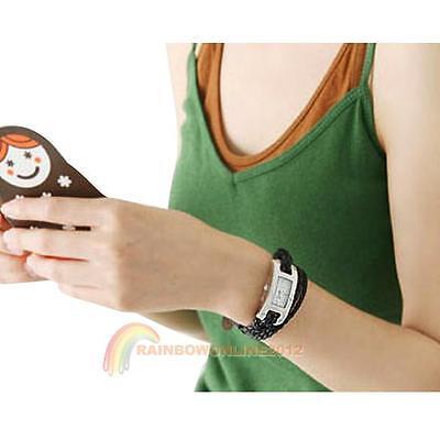 Colorful Fashion Women's Watch Bracelet Leather Braided Thin Candy Wristwatch R1