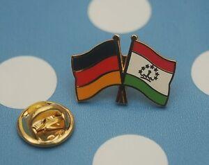 Freundschaftspin-Deutschland-Tadschikistan-Pin-Button-Badge-Anstecker-Asien