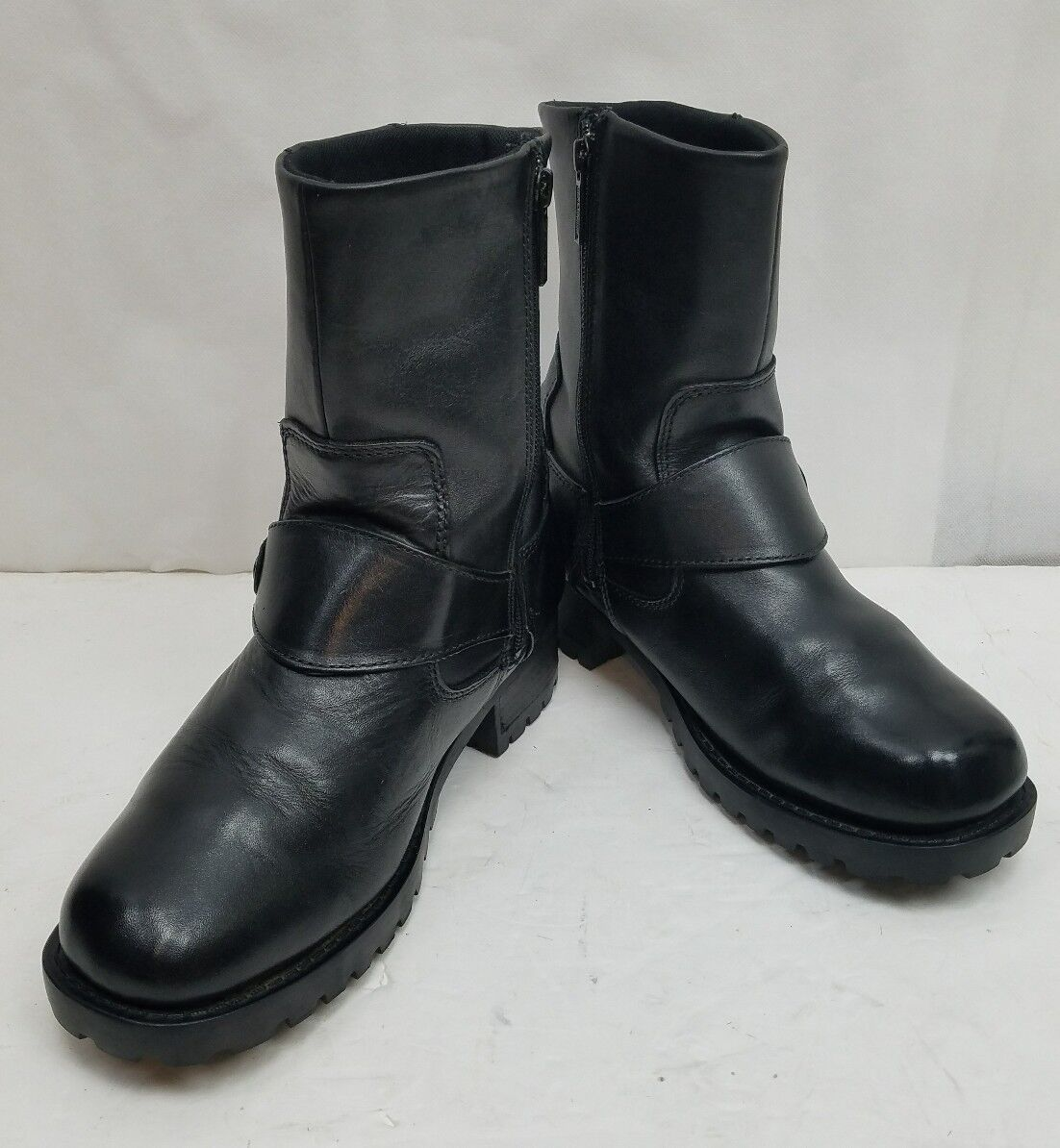Harley-Davidson Women's Alivia Black Leather Motorcycle Boots D84269 Size  9.5