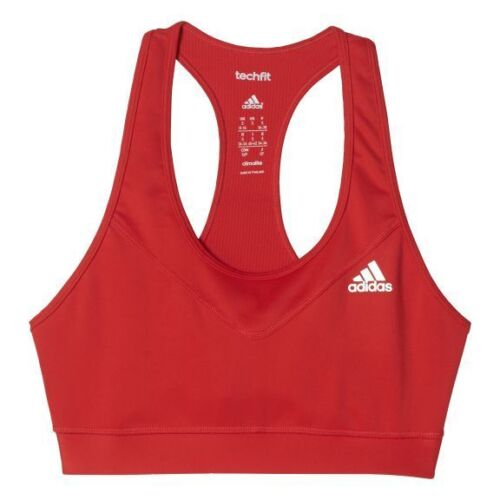 adidas Tech Fit Bra Ladies Womens 8 10 S Shock Red BOX87 18 i