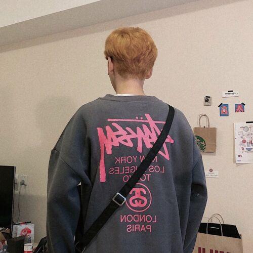 Stussy Kleines Logo Vlies Hoodie Sweatshirt Hoody Warm Sweater Kapuzenpullover