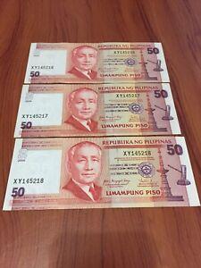 LOTS-OF-3-REPUBLIKA-NG-PILIPINAS-50-PISO-CONSECUTIVE-SERIAL-AU