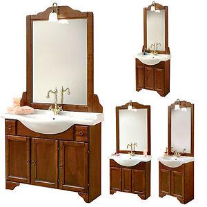 Nuovo mobile bagno arte povera 4 misure specchiera applique stile ...