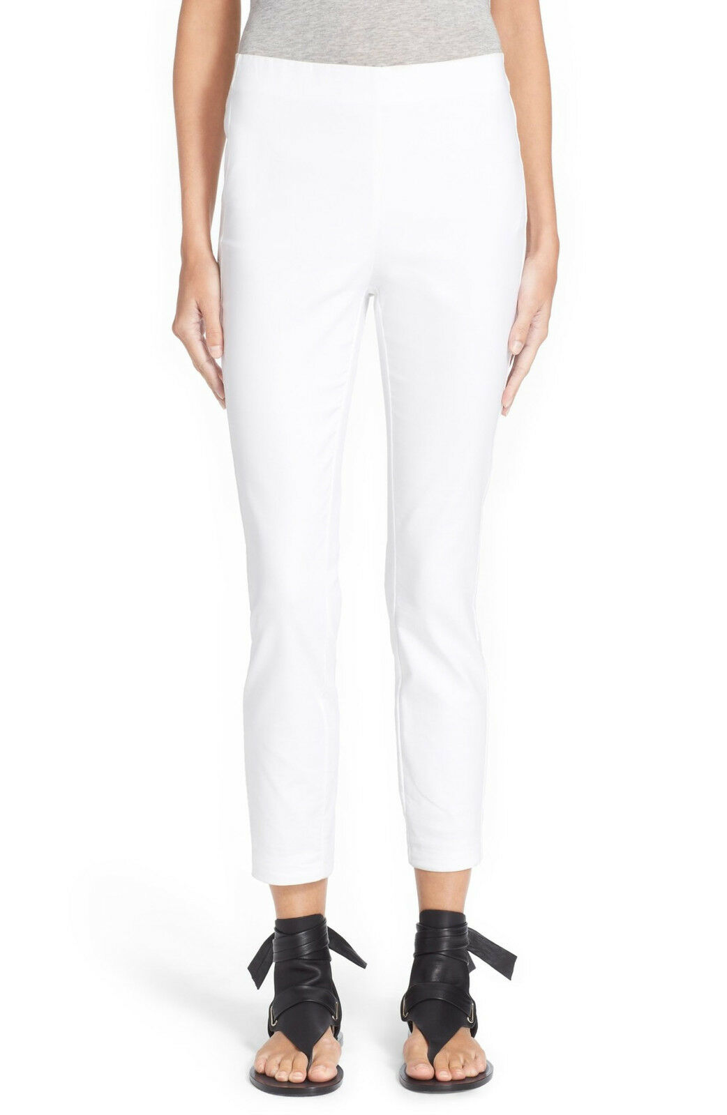 RAG & BONE Simone Slim Stretch Ankle Pants White Size 2 Extra Small NEW  295.00