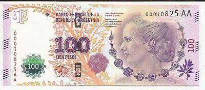Pick 358b UNC 2016 ARGENTINA BANKNOTE 100 Pesos Evita -  Series Z