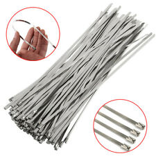 bb18b641b27c 100X Strong Stainless Steel Marine Grade Metal Cable Ties Zip Tie Wraps  Exhaust