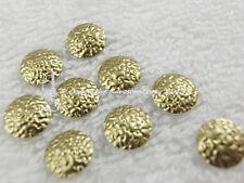 10 Hotfix Nailheads  gehämmert 13mm Gold Karostonebox