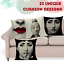 thumbnail 1 - Fornasetti Style Pillow Case Cover Sofa Home Textile Vintage Cushion Linen Decor