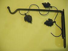 "9"" BLACK WROUGHT IRON SWIVEL PLANT BRACKET HANGER HANGING"