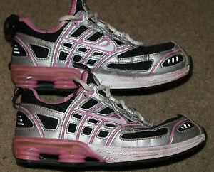 Nike Shox Youth Size 2.5   Womens 4.5 Black Silver   Pink  5b2c7092c