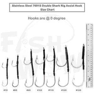 Mahi 9//0 10//0 12//0 11//0 Tuna USA Made Stainless Steel Double Hook Set Marlin
