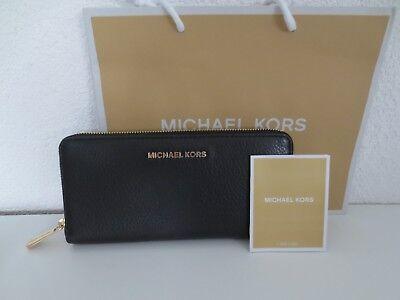 Michael Kors MK Geldbörse Portemonnaie TRAVEL Black Gold Schwarz Geldbeutel | eBay