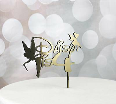 Magnificent Tinkerbell Birthday Cake Topper Kids Fairy Personalised Children Funny Birthday Cards Online Alyptdamsfinfo