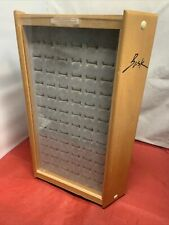 Bask Three Sided 216 Ring Display Case Rotatable Euc