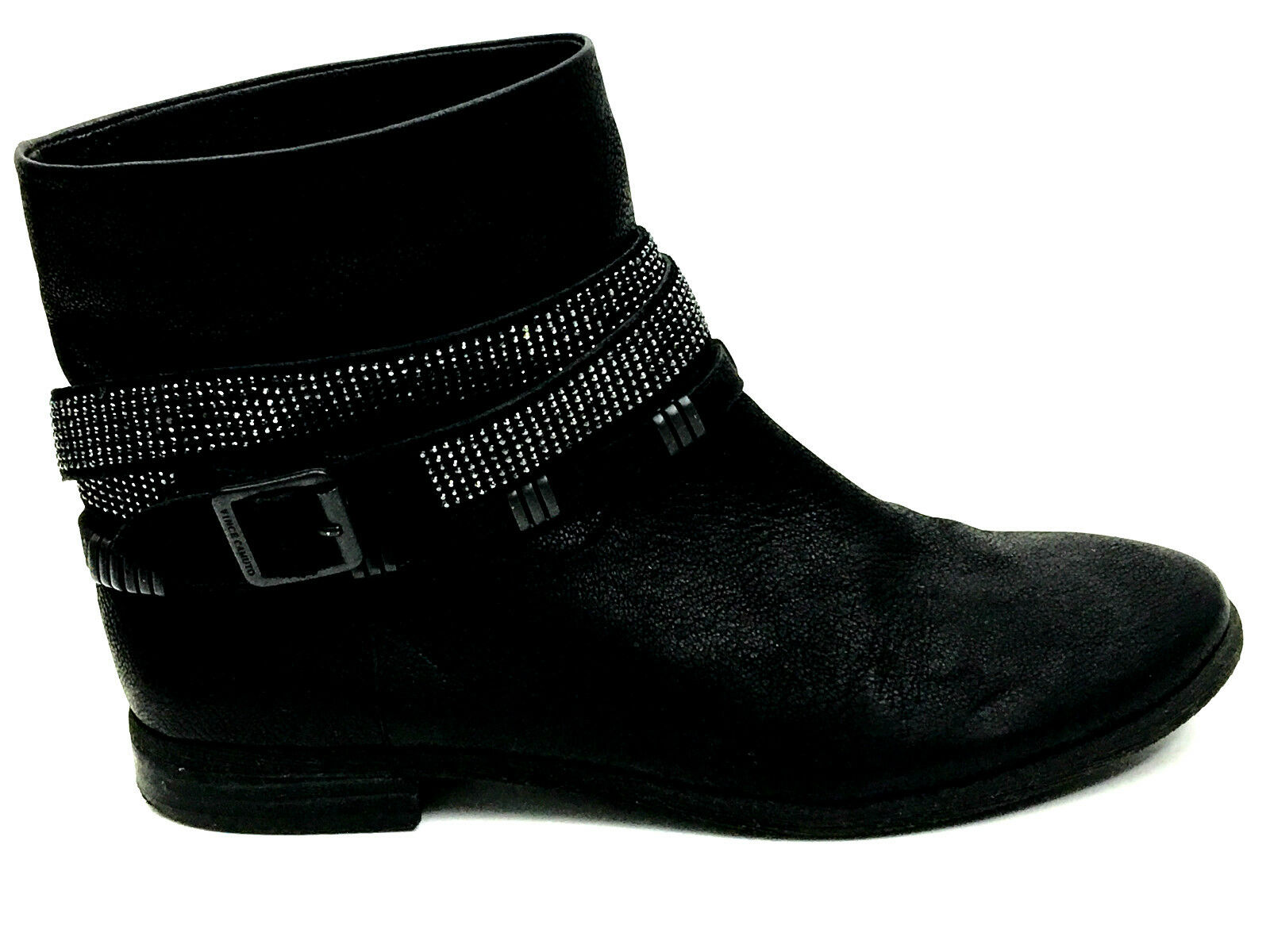 Vince Camuto Glitter Belted Boots Black Size 9 USA EUR.39