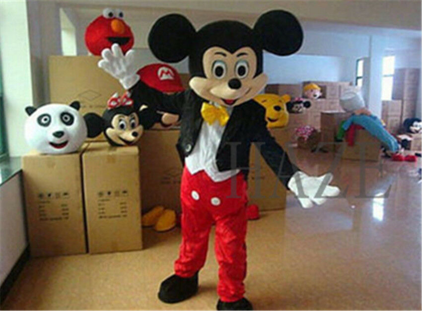 Adult Suit Suit Suit Size MICKEY MOUSE & MINNIE MOUSE Mascot Cosplay Costume 918400