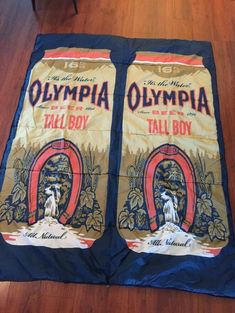 Olympia Beer Promo Sleeping Tasche, NWOT-83x60 or 83x30  folded