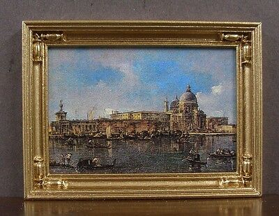 FRAMED  PICTURE Handcrafted  ~JIM COATES  ~ 1:12 scale ~ Dollhouse Miniature