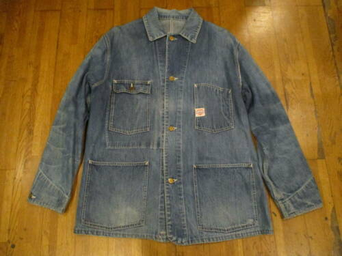 Vintage 1940's Carhartt Coverall Denim Jacket Oute