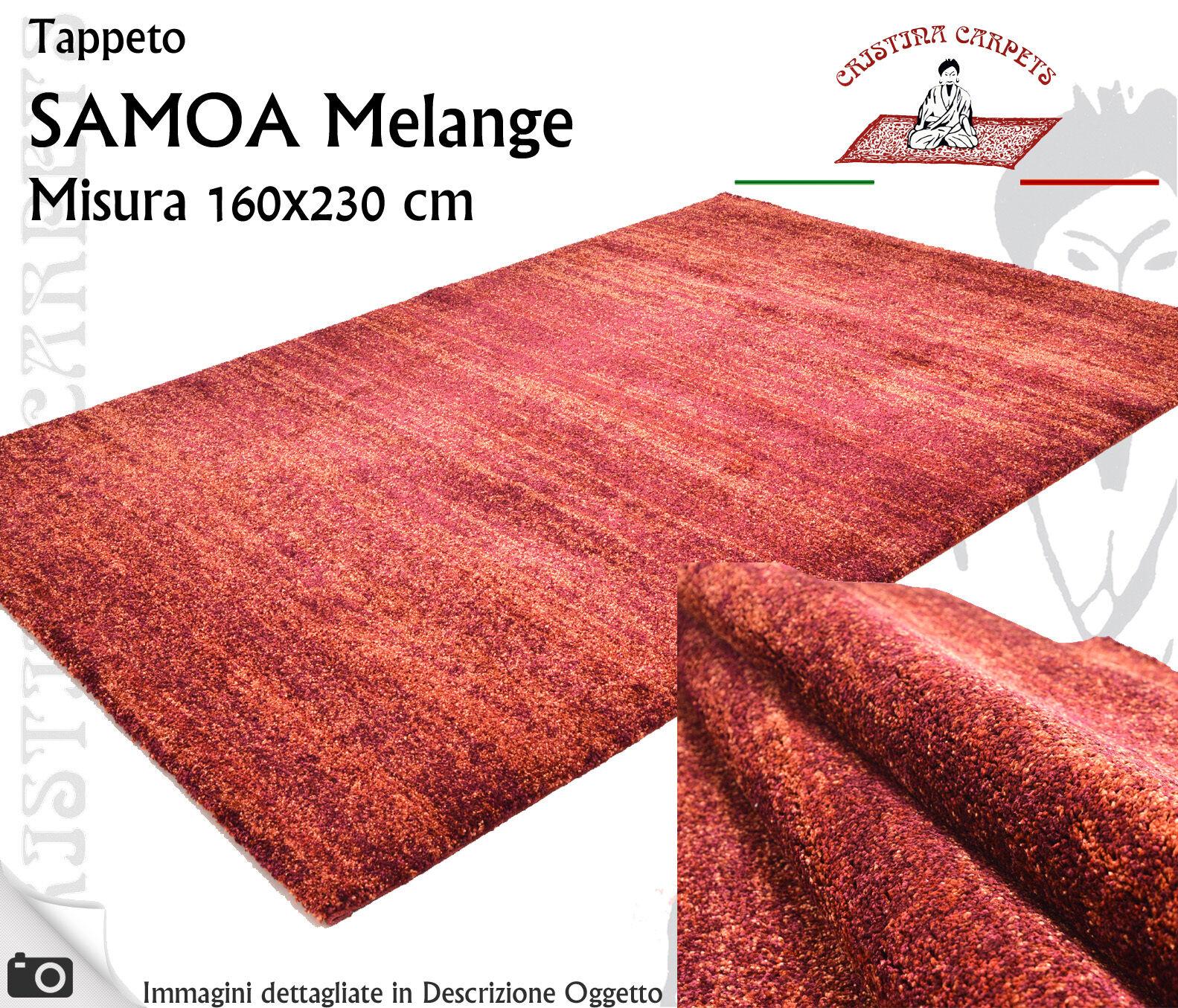 Tappeto Moderno SAMOA Melange 160x230 cm Polipropilene Rosso Melangiato Q2 Q7