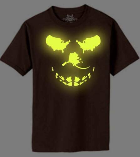 NW MEN/'S PRINTED BIG SKULL GLOW IN THE DARK FUNNY HIPSTER MMA COTTON T-SHIRT