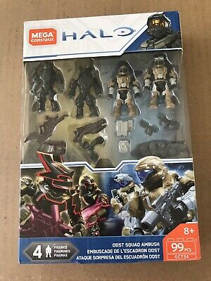 Mega Construx HALO ODST SQUAD AMBUSH Set Brute Captain Minor Halo 99 PCS GCT34