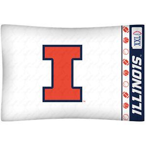Illinois-Fighting-Illini-Pillow-Case-NCAA-Pillowcase-Bedding