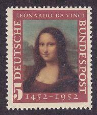 Germany 687 MNH OG 1952 Mona Lisa - Leonardo da Vinci Birth 500th Anniversary VF