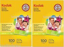 KODAK PHOTO PAPER GLOSS 200 SHEETS 4x6 Lexmark Dell Epson HP Canon 48 lb