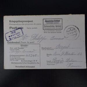 Lettre Prisonnier De Guerre Stalag Iv F -> Royat Kriegsgefangenenpost Pow