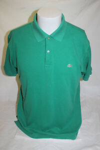 Lacoste-Men-039-s-Green-Polo-Shirt-Size-6-Made-in-France