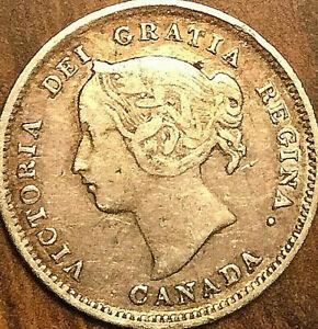 1899-CANADA-SILVER-5-CENTS-COIN