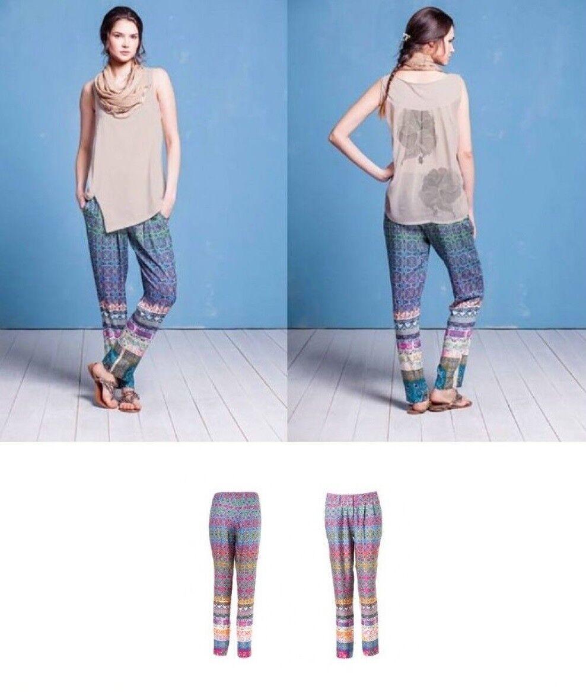 IVKO Hose Pants Geometric Print bunte Hose pink blue Adria 51711