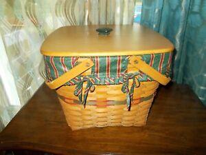 Longaberger 1995 Holiday Hostess Evergreen Basket Protector