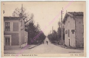 CPA-17160-MATHA-Boulevard-de-la-gare-Edt-COMBIER-collection-Mme-Moinet-ca1939
