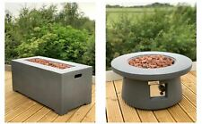 Modern Fire Pit Table Concrete Regulator, Hose & Cover! Electronic Ignition!