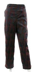 MM-Lafleur-Women-039-s-14-Black-Burgundy-Vesterbro-Trousers-Pants-Tile-Jacquard-EUC