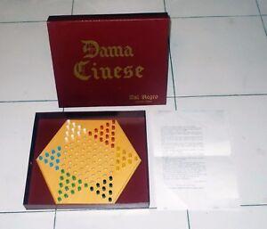 DAMA-CINESE-in-legno-DAL-NEGRO-Chinese-Checkers-OTTIMO