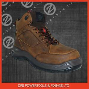 9dba82cbccf Details about Zephyr ZX74 brown nubuck leather S1P hiker safety boot with  midsole size 6-12
