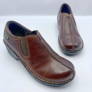 Eastland-3172-Women-Brown-Leather-Slip-On-Mule-Clog-Shoe-Size-8-5W-Pre-Owned