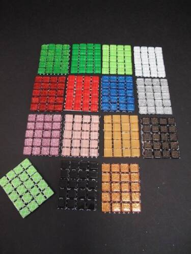 20 Mini Mosaic Tiles 14 Colours to choose from for Scrapbooking /& Cardmaking