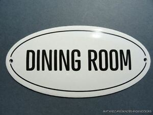Image Is Loading ANTIQUE STYLE ENAMEL DINING ROOM DOOR SIGN PLAQUE