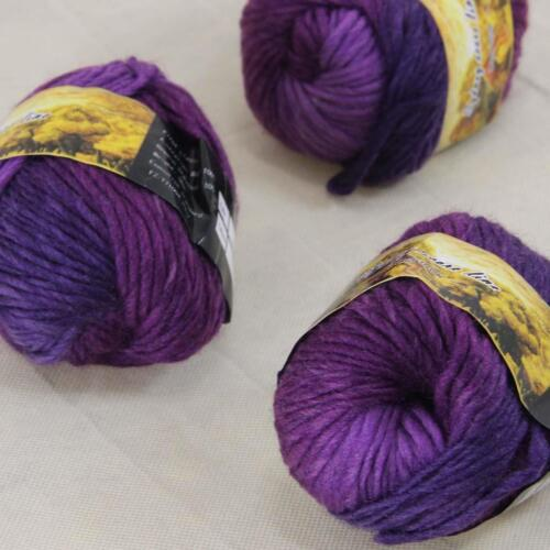 Sale Lot of 3 Skeins New Knitting Yarn Chunky Colorful Hand Wool Wrap Scarves 28