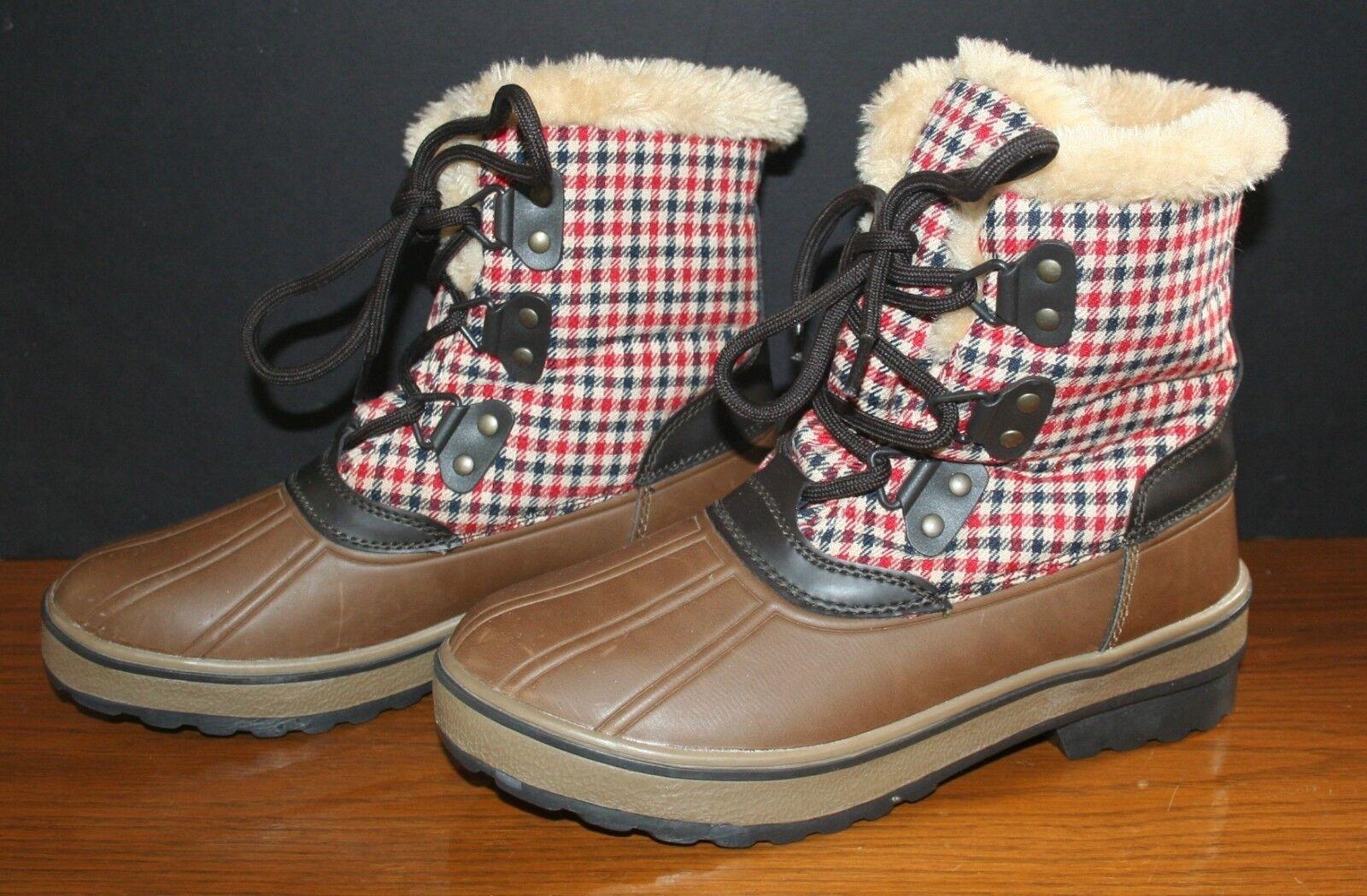 Para mujer botas botas botas de Pato de bajos 7M Sundown aislado a Cuadros Mint  Invierno botas De Nieve  autorización oficial