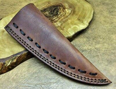 TITANs Premium Black Leather Sheath 19cm for Scout Bushcraft Hunting Kinves 8BL