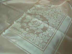 Vintage Made Japan Pink Damask Tablecloth With Napkins