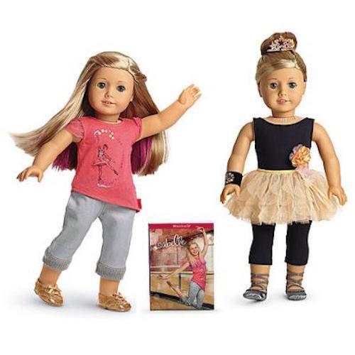 Nuevo Libro De Muñeca American Girl Isabelle 18  + Traje de rendimiento extensiones de cabello
