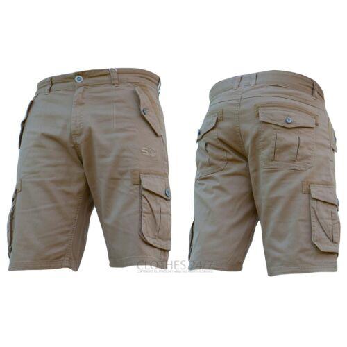 New Mens Summer Crosshatch AD Plain Shorts Cotton Cargo Combat Cheap Sale Gym