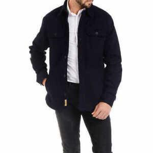 Jachs-Men-s-Flannel-Lined-Shirt-Denim-Navy-Jacket-NWT