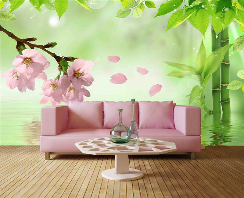 Orient Peach Blossom 3D Full Wall Mural Photo Wallpaper Printing Home Kids Decor